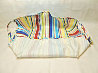 LONGABERGER Fabric Liner Only for Blue Ribbon Pie Basket Sunny Day Stripe No Bag