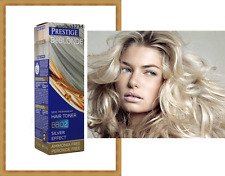 GREY HAIR SILVER EFFECT TONER BB02 DYE BLOND HAIR 100 ml. NO AMMONIA & PEROXIDE
