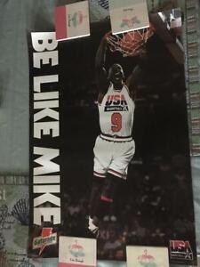 MICHAEL JORDAN 1992 Olympic USA Dream Team Gatorade BE LIKE MIKE Poster