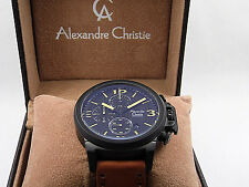 Alexandre Christie 6280 MCLIPBAYL Brown Leather Analog Chronograph  Watch