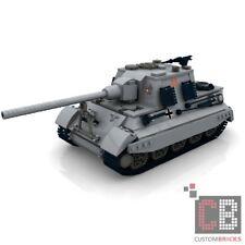CUSTOM PDF Instructions WW2 WWII Tank HUNTING TIGER for LEGO® Bricks