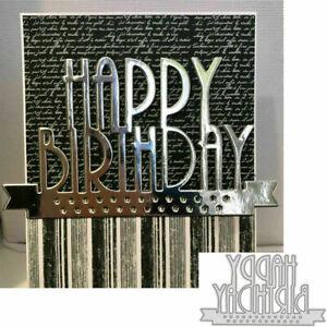 Happy Birthday Stencil Metal Cutting Dies Scrapbooking Paper Craft Card Making
