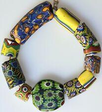 11 Mixed Venetian Millefiori Trade Beads - African Trade Beads