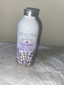 Crabtree & Evelyn Rare Lavender TALC FREE Body Powder 75g New