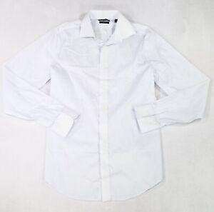 Lauren by Ralph Lauren Mens Dress Shirt White Blue Size 15 1/2 Polka Dot $79 068