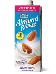 Almond Breeze Milk Unsweetened 1 Litre (Blue Diamond)