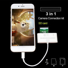 3 IN 1 USB CAMERA CONNECTION KIT SD TfMMC CARD READER FOR IPAD 4/MINI 234/Air-2