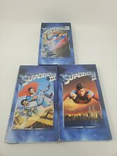 Superman Collection VHS Christopher Reeve Superman  II III IV 2 3 4