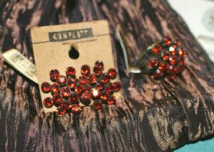 2 Stück  Konplott Magic Fireball NEU 1 Paar Ohrringe 1 Ring orange rot Schmuck