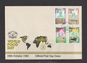 Kenya 1981 World Food Day FDC per scan