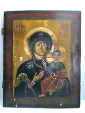 "große antike russische Ikone ""Gottesmutter Smolenskaja"" Sponki 19.JH"