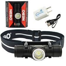 Nebo Transcend Headlamp Flashlight USB Rechargeable Headlight with USB Adapter