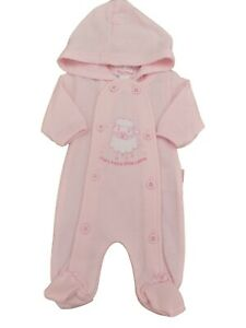 BNWT Tiny Premature Preemie Baby girls hooded all in one  3-5lb & 5-8lb