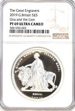 Una and Lion, 2019 Silver Proof Royal Mint Two Ounce (2oz) NGC PF69 Ultra Cameo