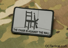 The Chair is Against the Wall,   Red Dawn Morale Patch, Grey and Black