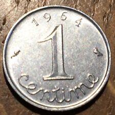 PIECE DE 1 CENTIME ÉPI 1964 (365) PORTE BONHEUR SELON LES ANCIENS