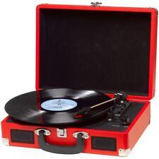 Tocadiscos discos vinilo clasico retro con altavoces y maletin DENVER con USB