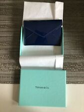 Tiffany & Co. New Patent Leather Card Case with tissue And Ribbon