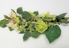 """28"""" Green Hydrangea Floral Pick with Ranunculus and Berries Faux Silk"""