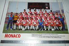 CLIPPING POSTER FOOTBALL 1987-1988 AS MONACO ASM ROCHER LOUIS II