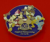 Used Disney Enamel Pin Badge 50 Years of Disneyland 2005 Mickey Donald Goofy etc
