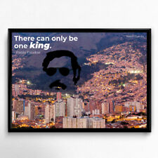 designbomb® Pablo Escobar There can only be one king Poster Plakat Statement