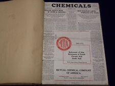 1933 JAN-DEC CHEMICALS MAGAZINE BOUND VOLUME PRICE TRENDS IMPORTS ADS - KD 661