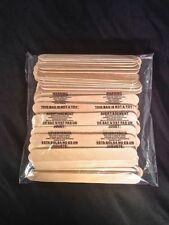 "Popsicle Craft Sticks Tongue Depressors 100 pieces Jumbo 6"" x .75"""