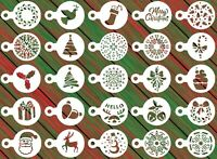 25 Christmas Reusable Stencil Set - Cookies, Cake, Fondant, Crafts, Airbrush