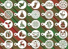 25 Christmas Reusable Stencil Set - Cookies, Cake, Fondant, Crafts, Airbrush