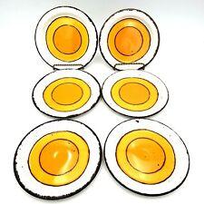Stonehenge Midwinter Sun SET OF 6 Bread Salad Plates 7 inch MCM England