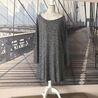 TOAST | UK 16 18 20 | Grey Midi Dress | Long Sleeves | Lagenlook Tunic