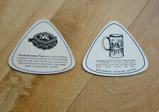 2 x Vintage Beermat Coasters  from  1960's. Whitbread Tankard