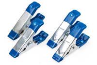Leimzwingen 4-tlg Metall Leim Zwinge Spannwerkzeug Klemme Kfz Klemm Werkzeug Set