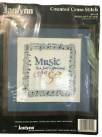 "Janlynn Music-Gift Of God Counted Cross Stitch Kit 64-10 10"" x 10"" New"
