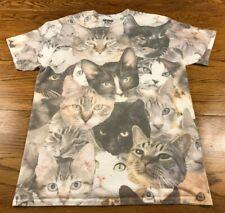 Cat Print T Shirt All Over Cats Adult M Medium