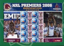 40925) AUSTRALIA 2006 MNH** NRL Broncos Brisbane M/S