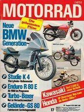 M7917 + Fahrbericht BMW R 100 S Turbo + Test KAWASAKI Z 400 G + MOTORRAD 17 1979