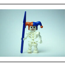 ☆MINT☆ Lego Evil Skeleton Jester Minifigure Minifig With Purple Spear Weapon!