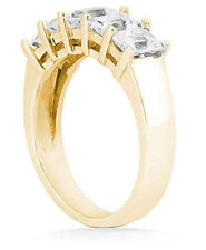 1 carat 5 Emerald Cut Diamond Ring 14k Yellow Gold Anniversary Band VS1 clarity