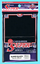 80 KMC SUPER BLACK Standard Size Card Barrier Sleeves NEW Deck Protector MTG