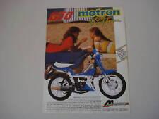 advertising Pubblicità 1987 MOTRON GTO