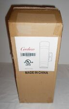 """Cerdeco 13"""" Cylinder Wall Sconce WLN04 Brushed Nickel Dual Bulb New in Open Box"""