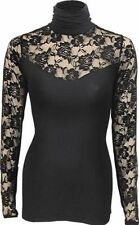 Lace Regular Machine Washable Solid Tops & Blouses for Women