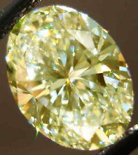 5.10 Ct Fancy Canary Yellow Oval LOOSE MOISSANITE For Rings/Earrings/Jewelry