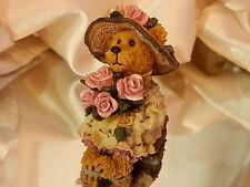 2001 Boyds Bears Number 578 Pink Rose Teddy Bear Figurine Xx Sweet 149jn7