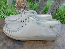 Womens SAS Made In USA Tan Leather Lace Up Walking/Sport/Causal Shoes Size 7.5 M