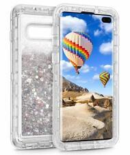 Samsung Galaxy S10 Plus Glitter Case TPU Quicksand Hard Shell Bling Shiny Silver
