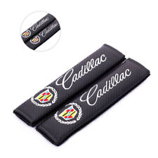 2X CADILLAC Carbon Fiber Auto Seat Belt Cover Pads Shoulder Cushion New ESCALADE