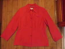ladies womens red coat size 14 marks & spencers M&S very soft
